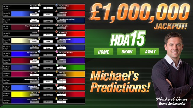 Michael's HDA15 Predictions