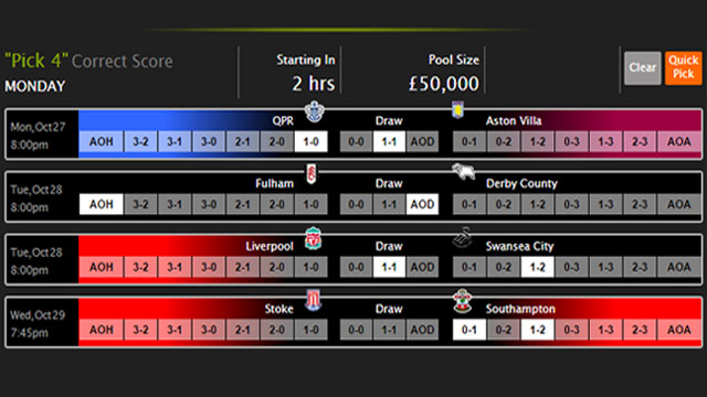 Guide to Monday's £50,000 Pick 4