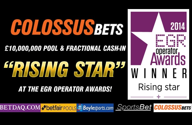 COLOSSUS BETS WINS EGR OPERATOR AWARD