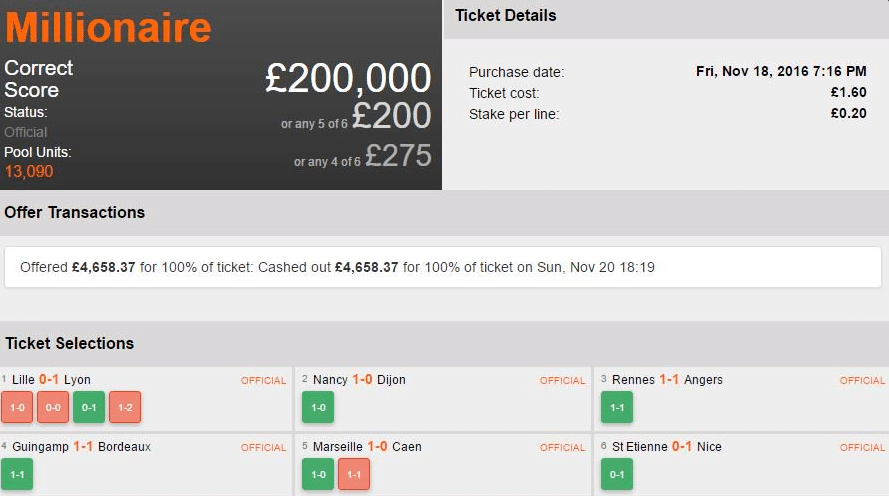 £137k Cash Out Colossus Bets