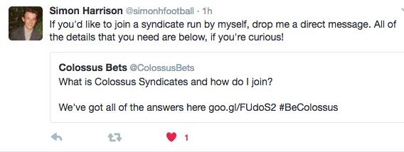 Syndicate tweet