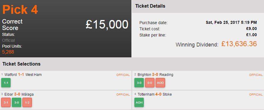 player wins £13k