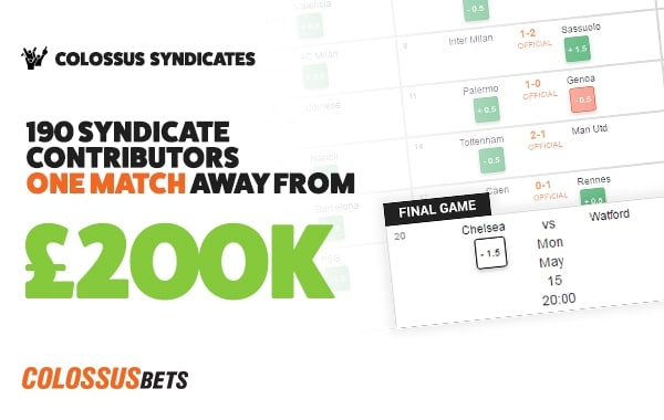 TwoPoundPunt & his Syndicate are one game from winning £200k