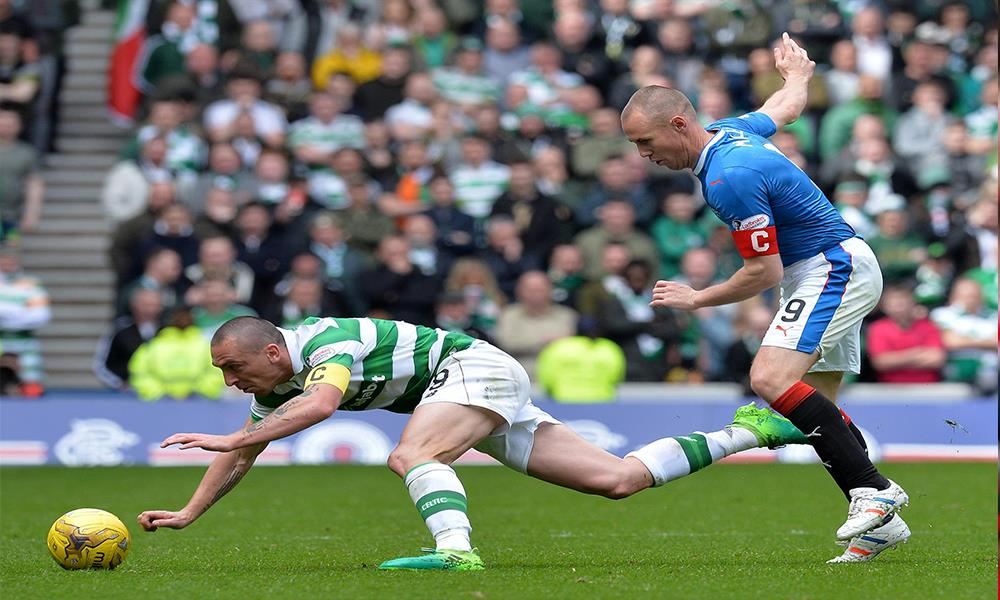 Scott Brown and Kenny Miller in a standard Old Firm tussle