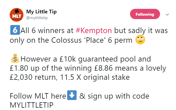Kempton Place 6 ticket