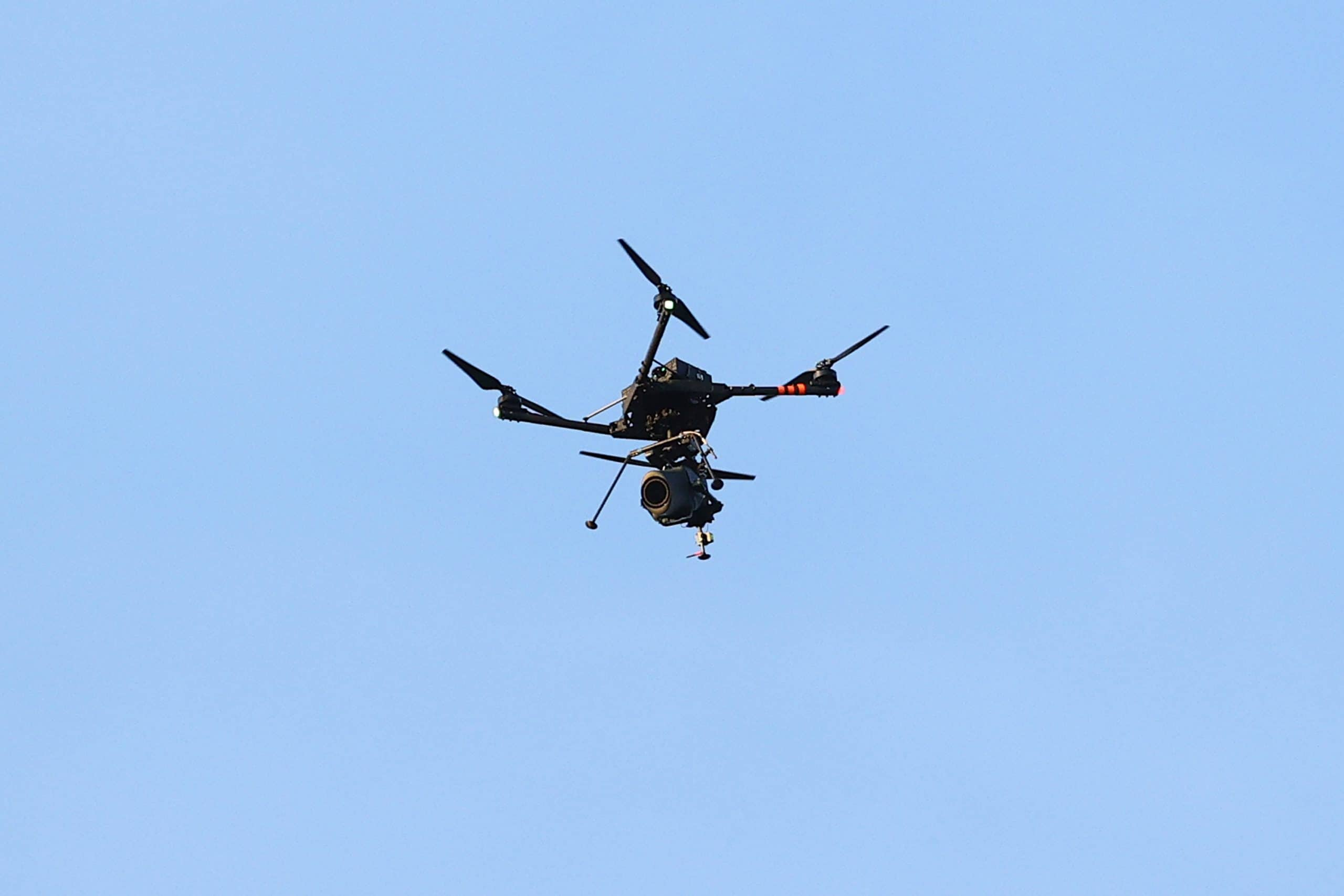 are drones used in football